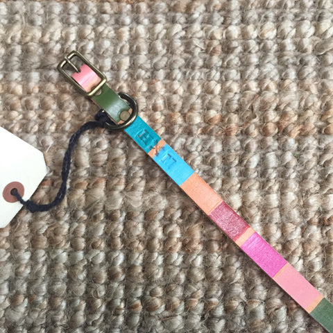 "1/2""Wide: 10-14"" Long ~ Painted Collar ~ Multi"