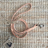 "1/2""Wide: Braided Leash ~ Natural"