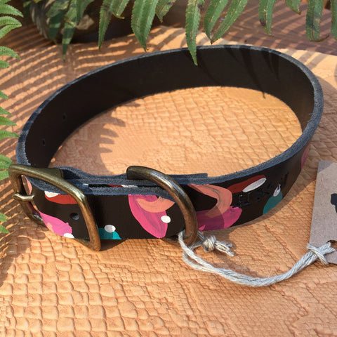 "3/4""Wide: 10-14"" Long ~ Painted Collar ~ Multi"