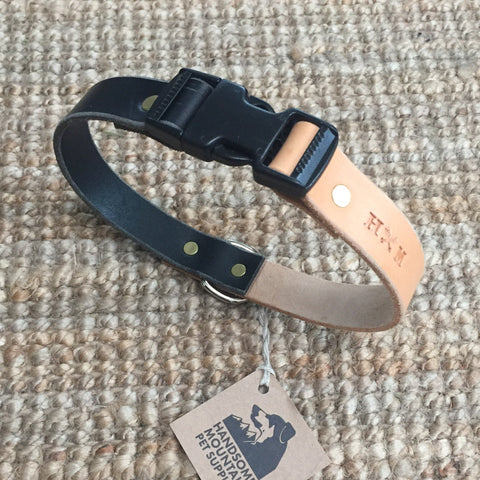"1""Wide: 23"" ~ Clip Collar: Black/Natural"