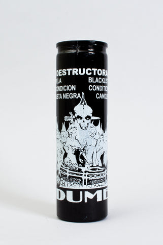 Destruction Intention Blacklist 7 Day Glass Candle