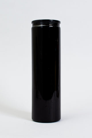 Black 7 Day Glass Candle
