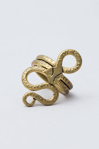 Brass Snake Ring