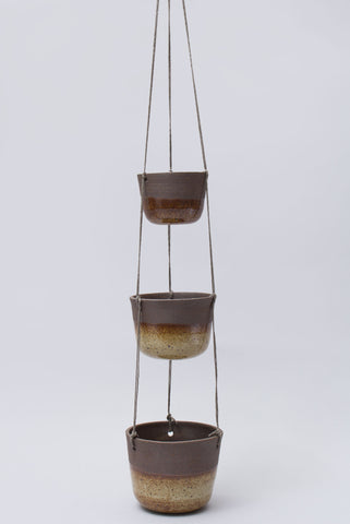 Three Tier Ceramic Hanging Planter