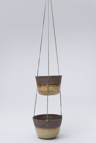 Two Tier Ceramic Hanging Planter
