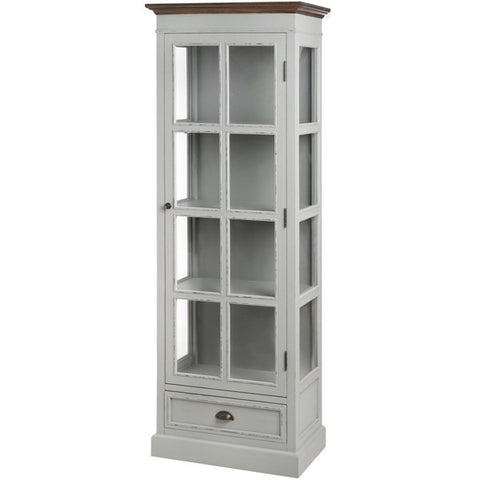 Manuka Tall Glazed Display Cabinet