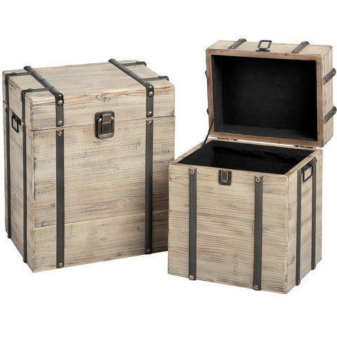 Set of 2 Wooden Chests