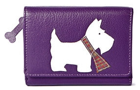 Scottie Dog Tri-fold Purse