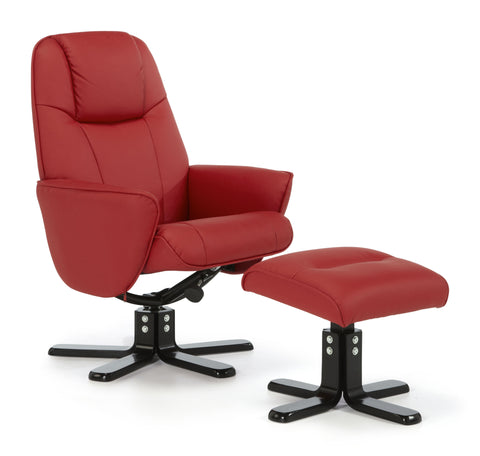 Bergen Recliner in Red