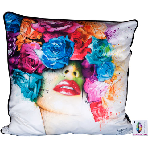 Patrice Murciano Roses Cushion (Feather Filled)