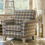 Cambridge Accent Chair in Check Fabric, Jackson Cove
