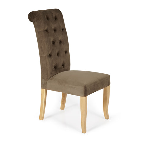 Chiswick Dining Chair in Mushroom (2 Chairs Included)