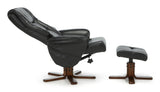 Drammen Swivel Recliner in Black