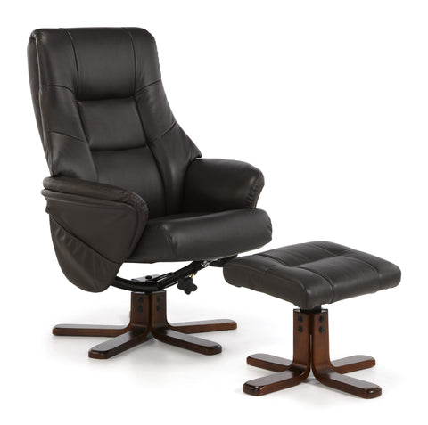 Drammen Swivel Recliner in Brown