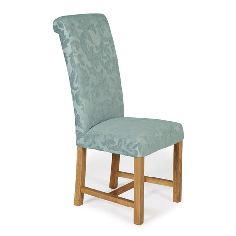 Greenwich Dining Chair in Duck Egg Floral (2 Chairs Included)