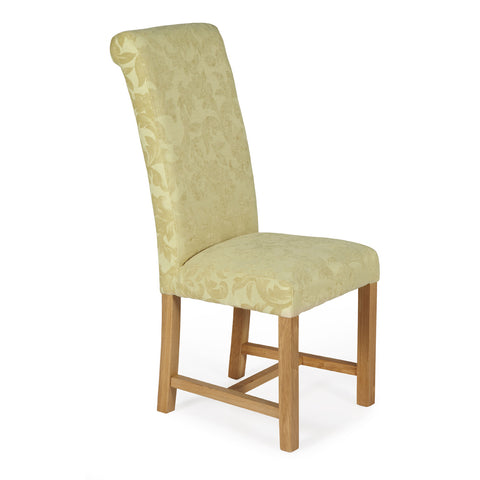Greenwich Dining Chair in Oatmeal Floral (2 Chairs Included)