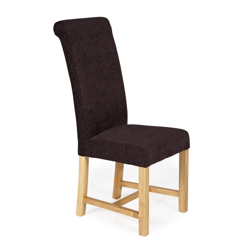 Greenwich Dining Chair in Aubergine Plain (2 Chairs Included)