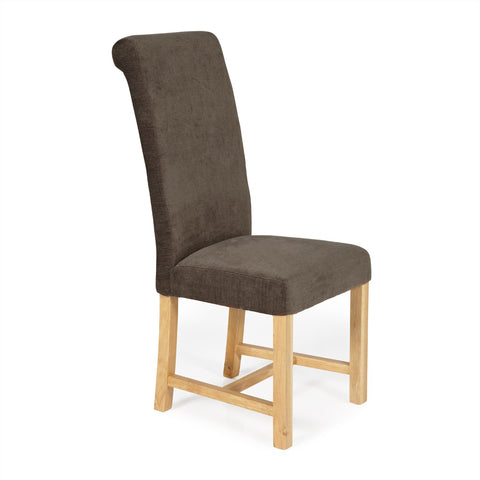 Greenwich Dining Chair in Brown Plain (2 Chairs Included)