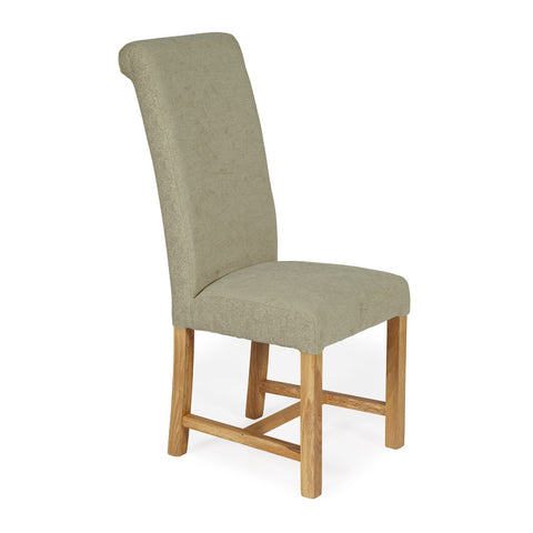 Greenwich Dining Chair in Sage Plain (2 Chairs Included)