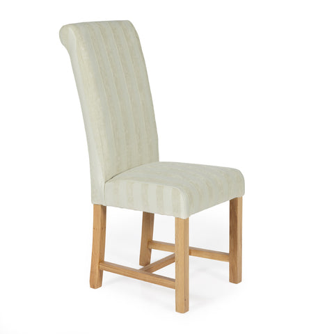 Greenwich Dining Chair in Cream Stripe (2 Chairs Included)