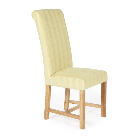 Greenwich Dining Chair in Oatmeal Stripe (2 Chairs Included)