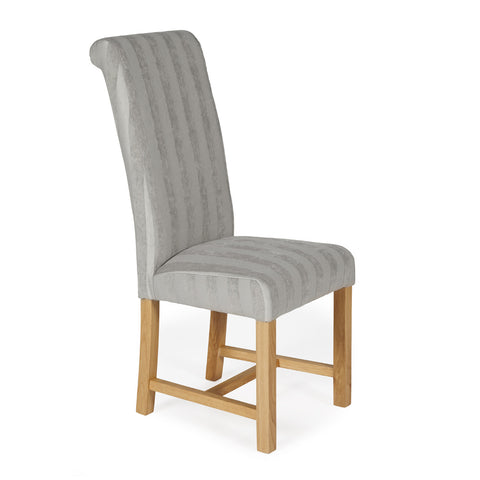 Greenwich Dining Chair in Silver Stripe (2 Chairs Included)