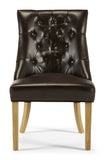 Hampton Brown Faux Leather Dining Chair (2 Chairs Included)