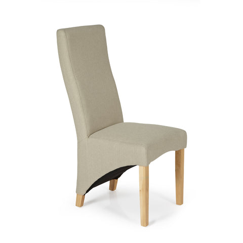 Hammersmith Dining Chair in Latte Plain (2 Chairs Included)