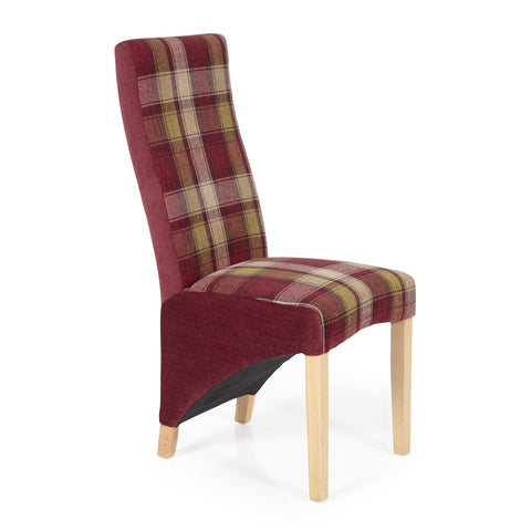 Hammersmith Dining Chair in Red Tartan (2 Chairs Included)