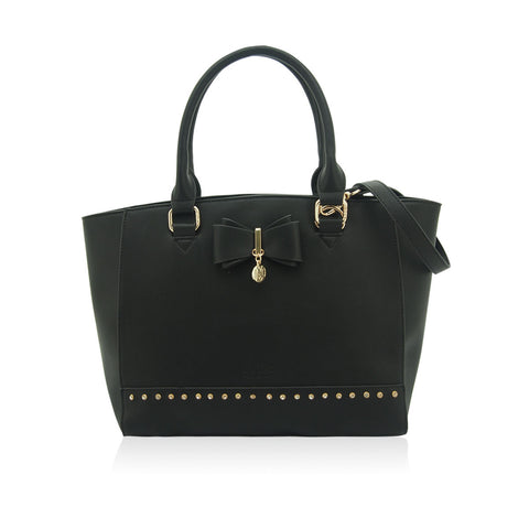 LYDC Black Liza Tote Bag