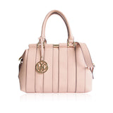 LYDC Light Pink Striped Handbag