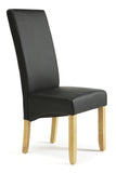 Merton Dining Chair in Black/Oak (2 Chairs Included)