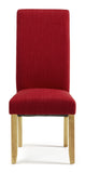 Merton Dining Chair in Scarlet/Oak (2 Chairs Included)