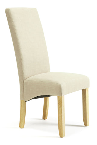 Merton Dining Chair in Stone/Oak (2 Chairs Included)