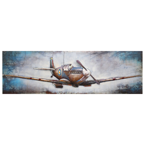 Spitfire 3D Metal Wall Art