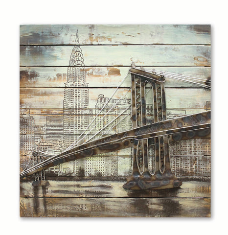 Brooklyn Bridge Metal Art