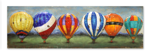 Balloons of Colour Metal Art