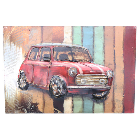 Retro Mini 3D Metal Wall Art