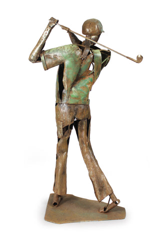 The Golfer Metal Sculpture