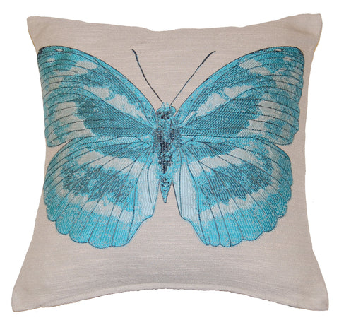 Butterfly Aqua Scatter Cushion
