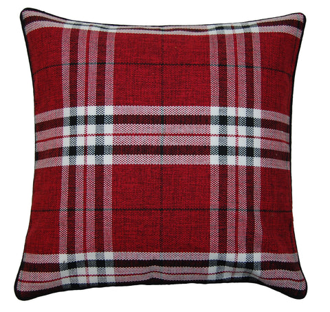 Red Tartan Scatter Cushion