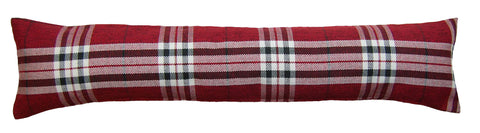 Red Tartan Draught Excluder