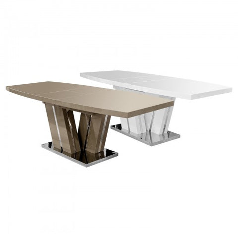 Geremia Extending High Gloss Dining Table