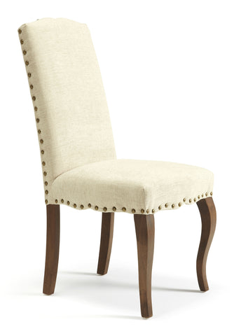Kensington Dining Chair in Pearl/Walnut (2 Chairs Included)