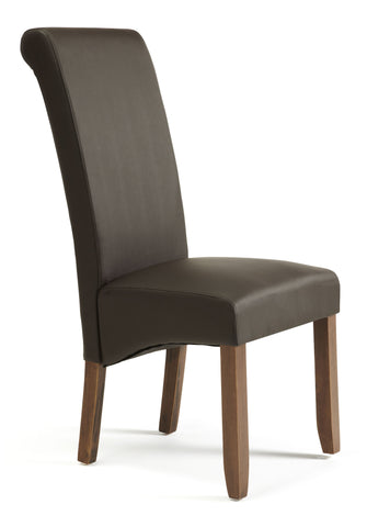 Kingston Dining Chair in Brown/Walnut (2 Chairs Included)