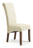 Kingston Dining Chair in Floral Cream/Walnut (2 Chairs Included)