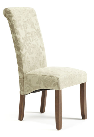 Kingston Dining Chair in Floral Sage/Walnut (2 Chairs Included)