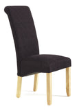Kingston Dining Chair in Plain Aubergine/Oak (2 Chairs Included)