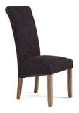 Kingston Dining Chair in Plain Aubergine/Walnut (2 Chairs Included)