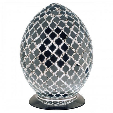 Mirrored Mosaic Egg Lamp (Medium)